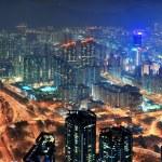 Hong Kong aerial night — Stock Photo #13825779