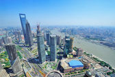 Shanghai aerial in the day — Stock Photo
