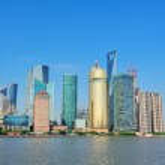Shanghai skyline — Stockfoto #14242591