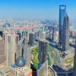 Shanghai aerial panorama — Stock Photo