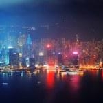 Hong Kong aerial night — Stock Photo #14247519