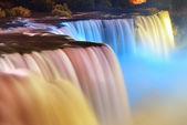 Las cataratas del niágara en colores — Foto de Stock
