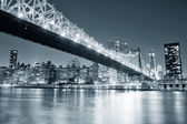 New York City night panorama — ストック写真