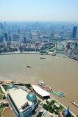 Shanghai luchtfoto in de dag — Stockfoto