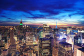 New York City Manhattan skyline aerial view — Stock Photo