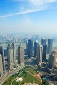 šanghaj letecký pohled — Stock fotografie
