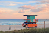 Miami South Beach sunset — Stock Photo