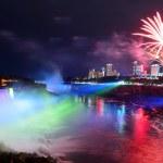 Niagara Falls and fireworks — Stock Photo #15269207