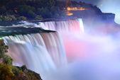 Niagara falls w kolorach — Zdjęcie stockowe