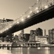 New Yorks natt panorama — Stockfoto