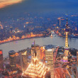 Shanghai sunset aerial view - Lizenzfreies Foto
