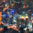 Stock Photo: Shanghai night aerial view