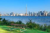 Toronto skyline from park — Stock Photo