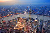 Shanghai sunset — Stock Photo