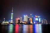 шанхай ночная панорама — Стоковое фото