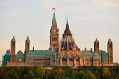 Ottawa Parliament Hill building — Stock Photo