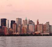 New York City Manhattan downtown skyline — Stock Photo