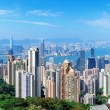Hong Kong mountain top view - Stock Photo