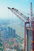 Shanghai in developing — Stock Photo