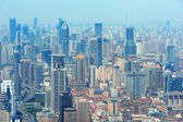 Luchtfoto van shanghai — Stockfoto