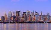 New York City Manhattan dusk panorama — Stock Photo