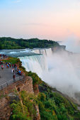Niagara Falls closeup at dusk — Stock Photo