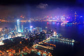 воздушные ночной гонконг — Стоковое фото