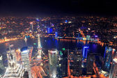 Shanghai night aerial view — Stock Photo