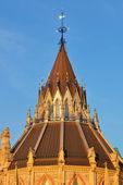Parlament-hügel-bibliothek-ottawa — Stockfoto