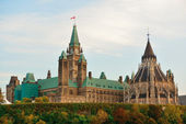 Ottawa Parliament Hill building — Foto Stock