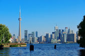 Toronto skyline from park — Stock Photo