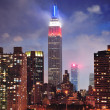 Empire State Building at night — Stock Photo #21092013