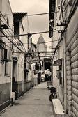 Strada vecchia di shanghai — Foto Stock