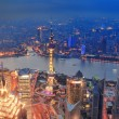 Shanghai sunset aerial view — Stock Photo
