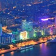 Shanghai aerial at dusk — Stock Photo #21118531