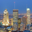 Stock Photo: Montreal at dusk