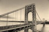 George Washington Bridge black and white — Stock Photo