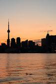Toronto-silhouette — Stockfoto