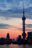 Oriental pearl tower in Shanghai — Stock Photo