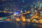 Shanghai luchtfoto in de schemering — Stockfoto