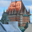 Chateau Frontenac in the day - Stock Photo