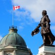Statue in Quebec City — Stock Photo