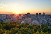 Montreal sunrise — Stock Photo