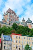 Chateau frontenac no dia — Foto Stock