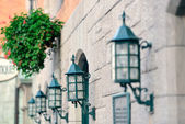 Quebec City street lamp — Stock Photo