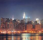 Urban city night view — Stock Photo