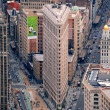 Flatiron Building in downtown Manhattan New York City — Stock Photo