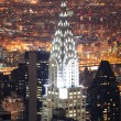Chrysler Building in Manhattan New York City at night — Foto de Stock