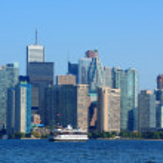 Toronto skyline in the day — Stock Photo