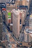 Flatiron Building in downtown Manhattan New York City — Stock Photo